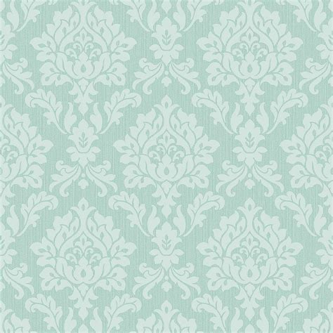 fine decor burlington damask wallpaper mint fd