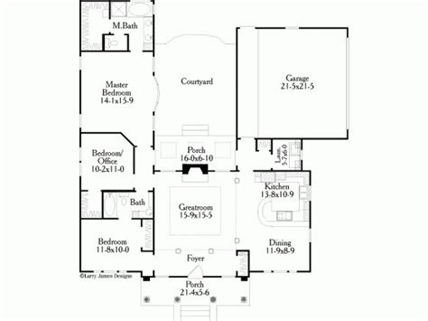 interior courtyard house plans interior courtyard house plan building plans
