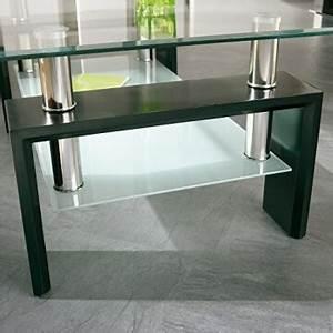 Wohnzimmertisch Aus Glas : li il links 50100045 couchtisch aus glas holz schwarz ~ Whattoseeinmadrid.com Haus und Dekorationen