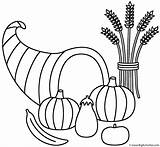 Wheat Coloring Horn Plenty Thanksgiving Sheaf Fall Autumn Pages Printable Bigactivities Horns Happy Activity Getcolorings sketch template