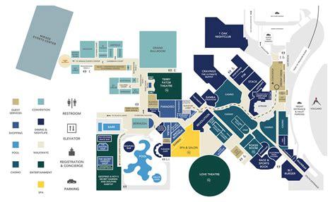 Caesars Palace Meeting Space Floor Plan by Las Vegas Casinos Map