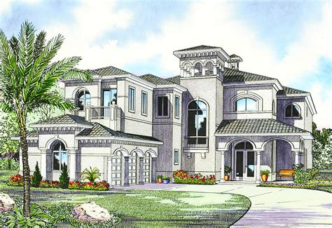 Luxury Mediterranean House Plan  32058aa Architectural