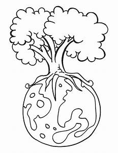 Save Our Forest on Earth Day Coloring Sheet : Batch Coloring