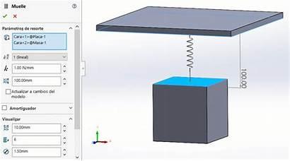 Solidworks Motion Resortes Uso Dmd Herramienta Simulacion