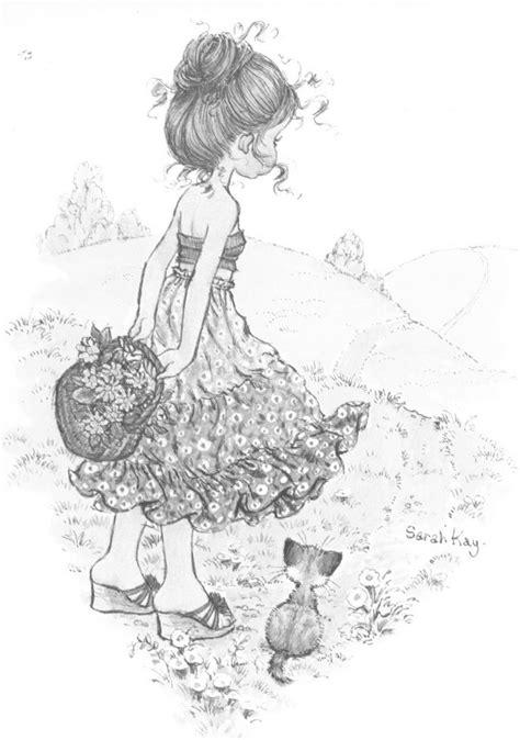 disfrutando el paisaje sarah kay  dibujar sarah kay sarah key  coloring books