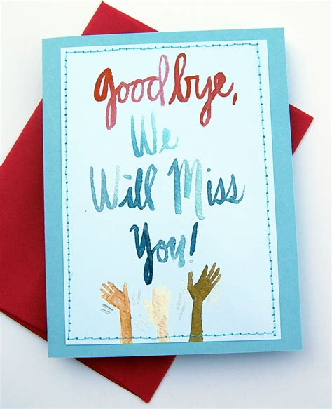 The free i miss you greeting cards are made to share with mobile smartphones & computers. We Will Miss You Cards For Coworker Printable Free | Free Printable