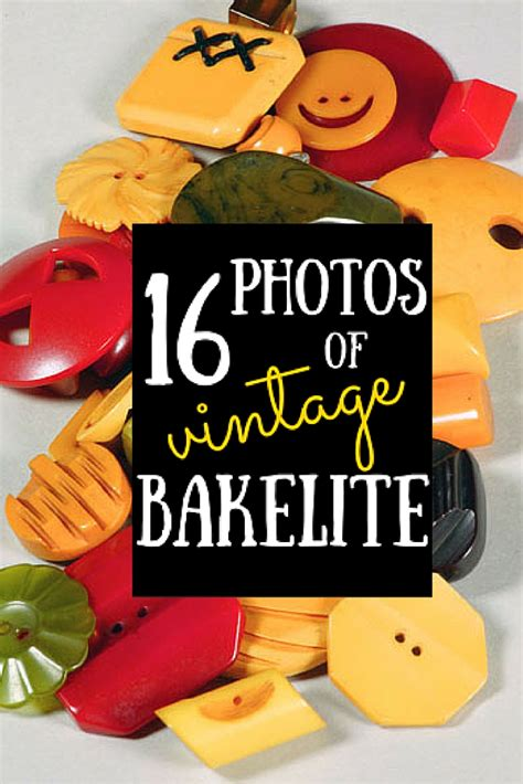 16 photos of vintage bakelite estate sale