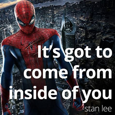 inspirational quote  stan lee spiderman