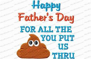 Father's Day Crap Toilet Paper Embroidery Design - Kris ...
