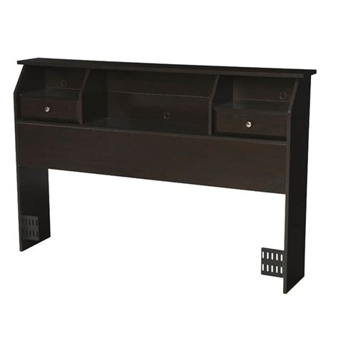Bookcase Headboard With Drawers by Size Storage Headboard Drawers Bookcase Wood