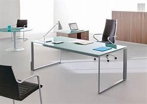 Bureau En Verre Design : bureau verre tremp couleur pour un bureau de travail eyebuy ~ Teatrodelosmanantiales.com Idées de Décoration