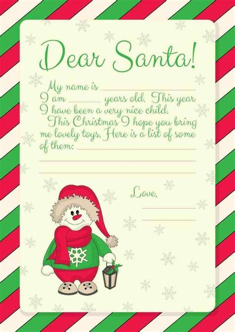 printables letter  santa templates