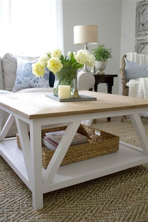modern farmhouse square coffee table buildsomethingcom