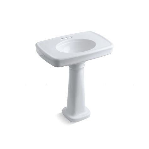 Kohler Bancroft Single Pedestal Sink by Kohler Bancroft Pedestal Bathroom Sink Combo With Centers