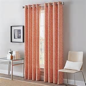 herringbone grommet top window curtain panel bed bath beyond