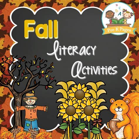 fall literacy activities for preschool fall literacy preview pre k pages 937