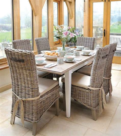 wicker dining set with wicker dining room table