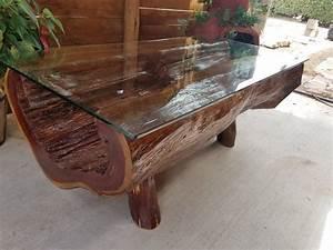 half log cedar coffee table fine wood carvings With cedar wood coffee table