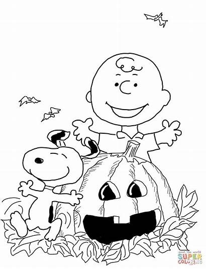 Halloween Colouring Activities Coloring Charlie Brown Colour
