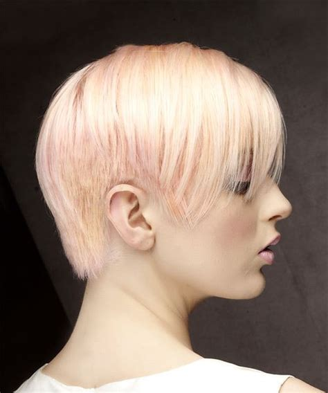 short straight formal pixie hairstyle  side swept
