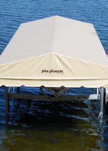 pier pleasure vinyl canopies  ease dock lift