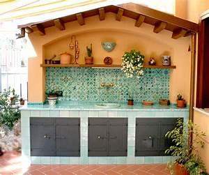 Cucina esterna decoro Mediterraneo #ceramics #pottery #