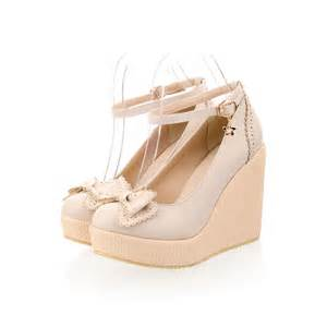 Cute Wedge Shoes with Bows