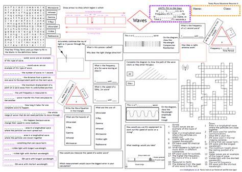 revision worksheets for aqa physics gcse 1 9 grade 2018 spec