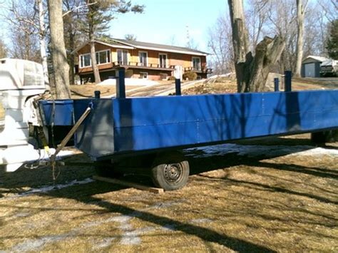 Pontoon Boats For Sale Eastern Ontario by Custom Built Pontoon Barge Custom Built Pontoon Barge 2017