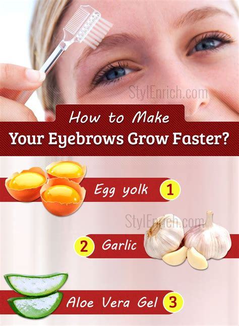 how to get to grow fast how to make your eyebrows grow faster using home remedies