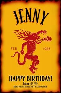 fireball whisky birthday labels by creativelabeldesigns With custom fireball label