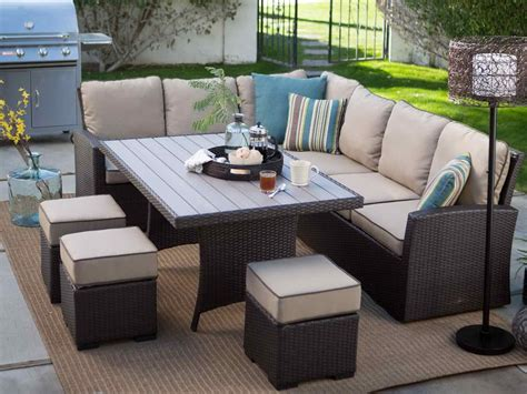 Dining Room Sofa Set by Patio Dining Sets On Sale With L Shape Design Chair Also