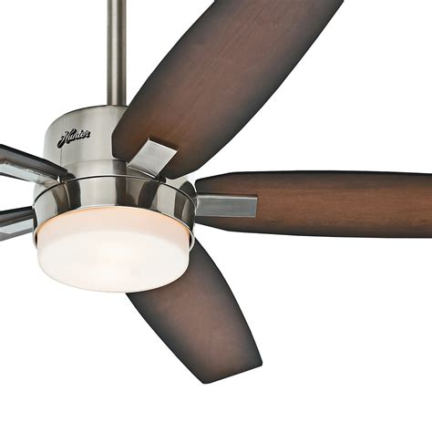 54 quot hunter prestige contemporary ceiling fan brushed