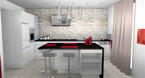 deco cuisine mur cuisine cuisine moderne parement contemporain