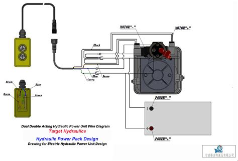 how to wire hydraulic power pack power unit diagram design