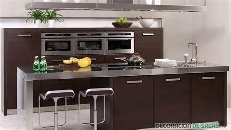 modernas cocinas en color wengue