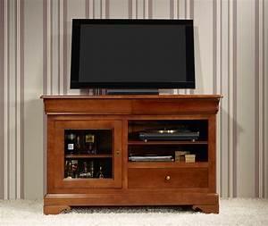 meuble tv 16 9eme marianne en merisier massif de style With meuble merisier style louis philippe