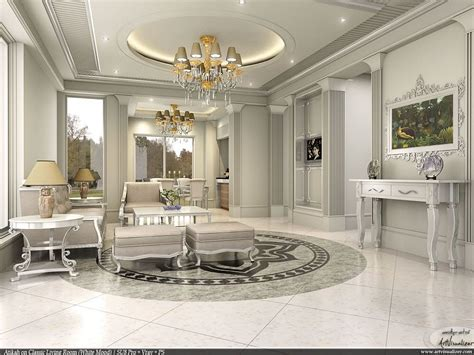 depositphotos interior design with a classic white