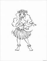 Hula Pages Coloring Printable Print Screen Coloringpagesonly sketch template