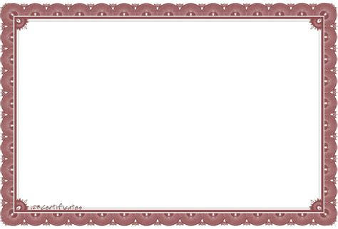 Borders For Certificates Templates by High Resolution Award Template Borders Blank Certificates