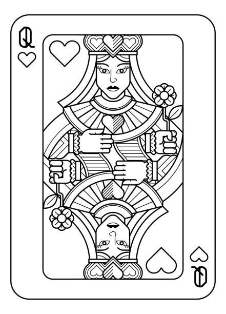 Best Women Playing Cards Illustrations, Royalty-Free
