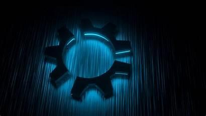 Glow Kubuntu Wallpapers Dark Linux Backgrounds Background