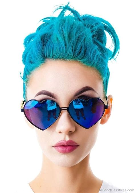 colored shorts 70 colored funky hairstyle for