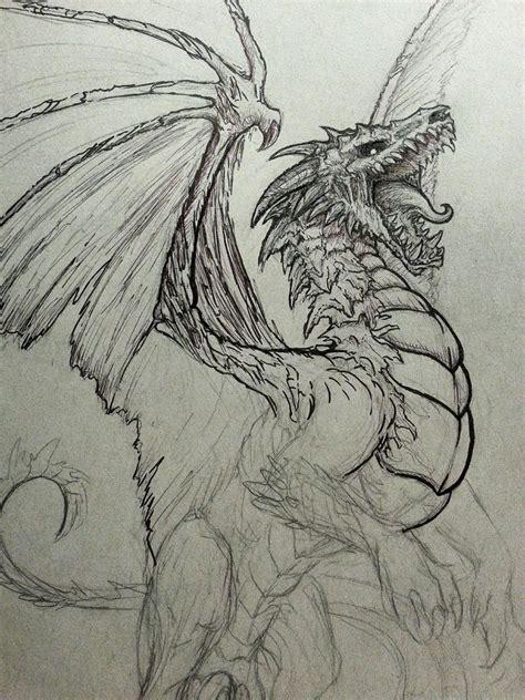 undead dragon sketch  crystalsully  deviantart