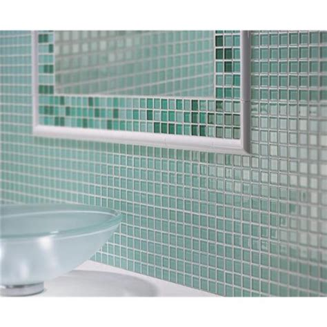 "Java Clear Glass Mosaic 24mm 1"" Tile"