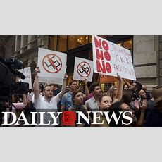 Antitrump Protest Outside Trump Tower In New York City Youtube
