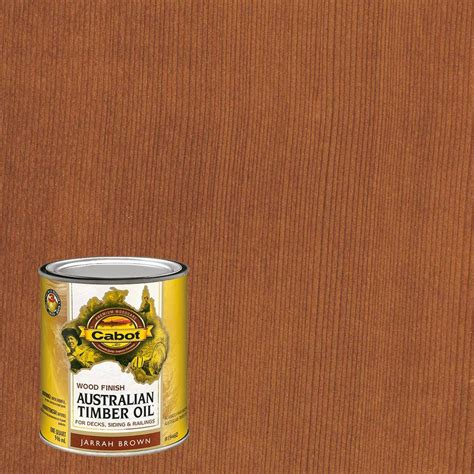 cabot  qt jarrah brown australian timber oil exterior