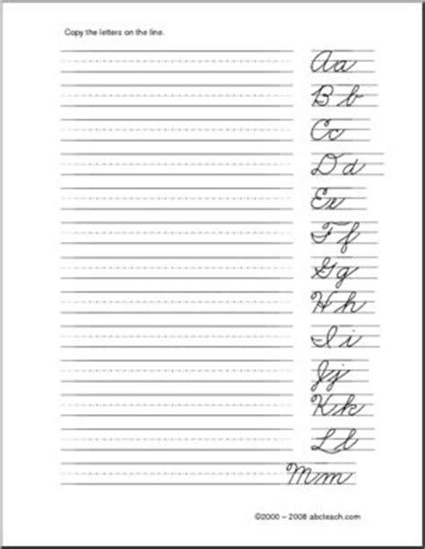 handwriting practice cursive letters aa zz  left