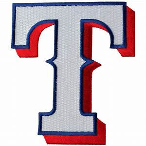 texas rangers hat cap 39t39 logo patch mlb jersey emblem With iron on letters for baseball caps