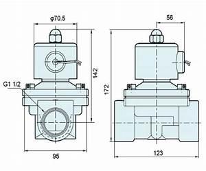 G1 2 Inch Brass Water Oil Valve Ac220v    Dc24 Normal